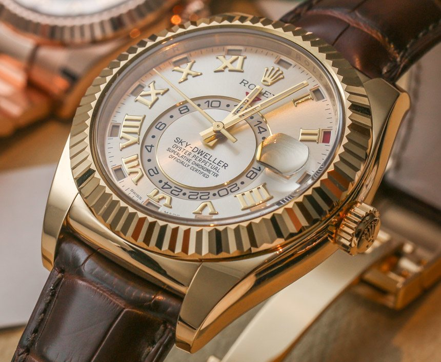 Rolex Sky-Dweller New Gold Color Replica Watch Hands-on Review