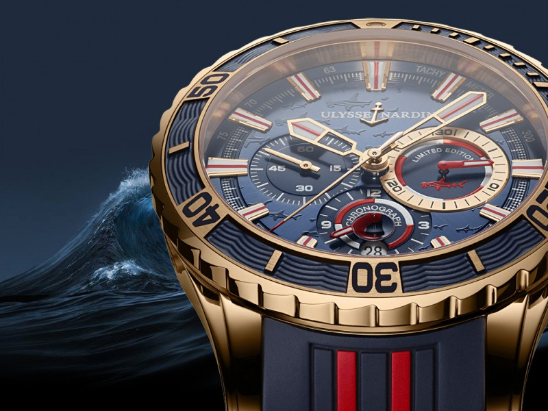First Look At The Interesting And Distinguished Ulysse Nardin Diver Chronograph Hammerhead Shark Replica Watch