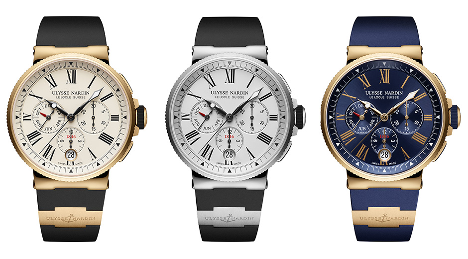 Ulysse Nardin Produces The Latest Charming Marine Chronograph Annual Calendar Replica Watch