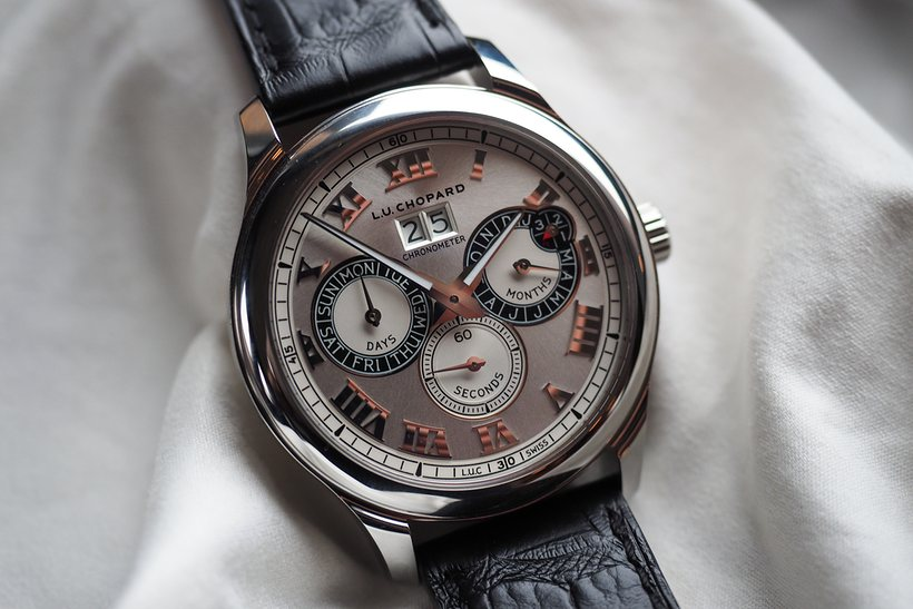 Reviewing The Delicated Polished Chopard L.U.C Perpetual Twin Replica Watch