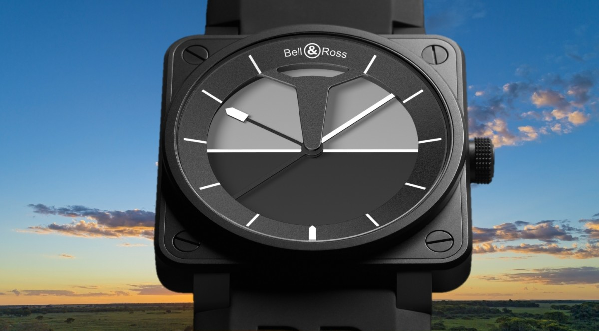 Black Bell & Ross BR 01 Horizon Replica Watch in Cheap Price