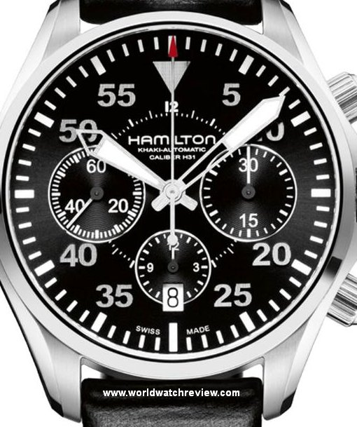 Hamilton Khaki Aviation Pilot Automatic Chronograph watch