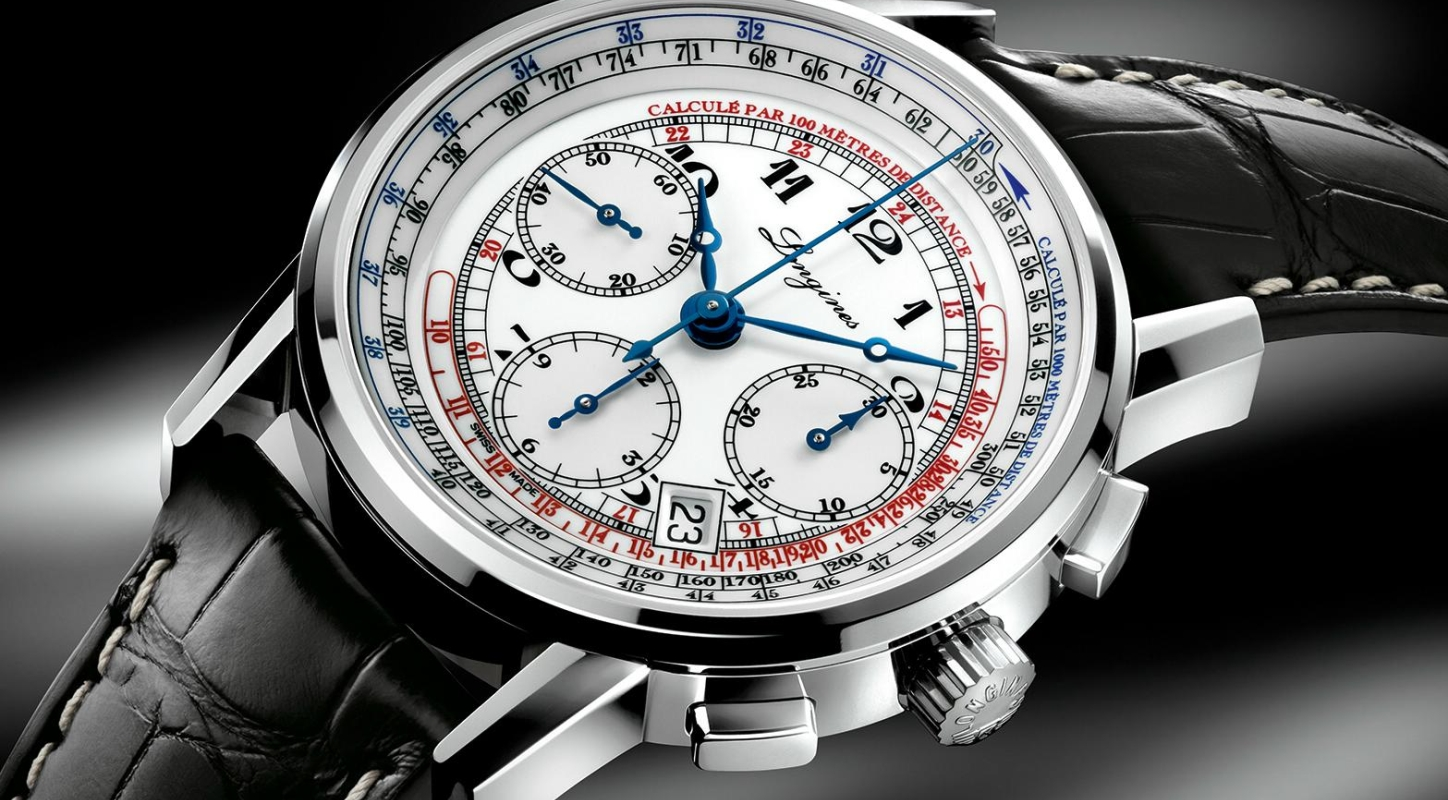 Stainless Steel Longines Tachymeter Chronograph Automatic Watch Replica