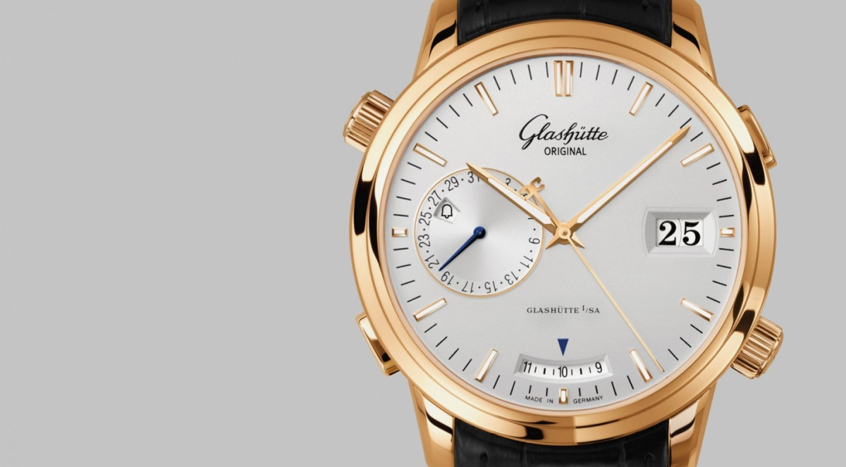 Reviewing The Yellow Gold Glashütte Original Senator Diary Copy Watch