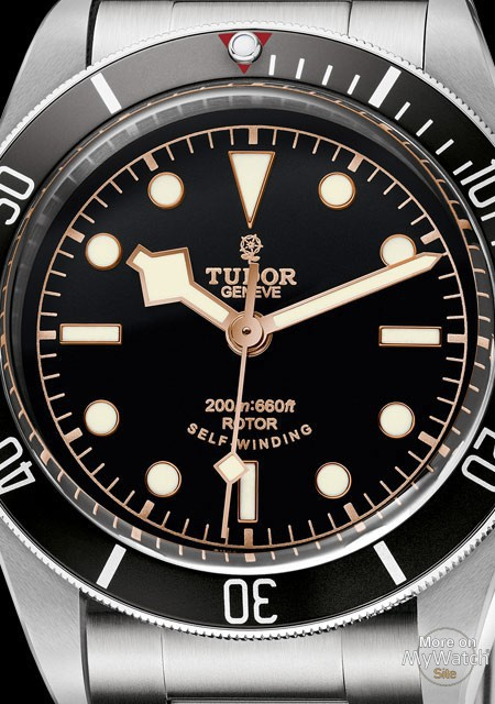 Up Close With The Mens Tudor Heritage Black Bay Black Stainless Steel Watch Replica