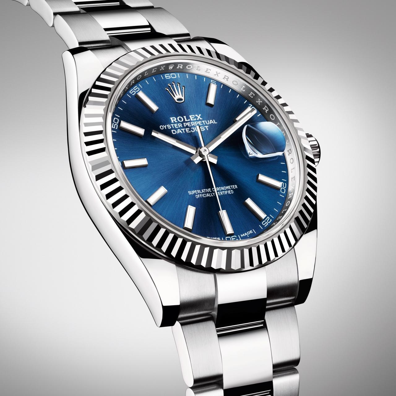 Rolex Datejust 41 blue dial replica