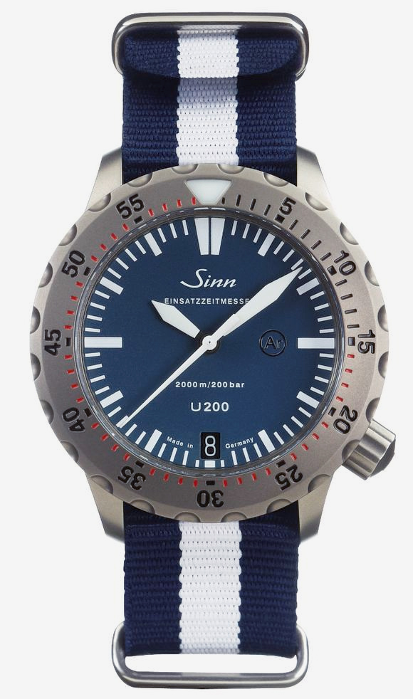 Sinn U200 B (EZM 8) Limited Edition Diver With Blue Dial Watch Releases