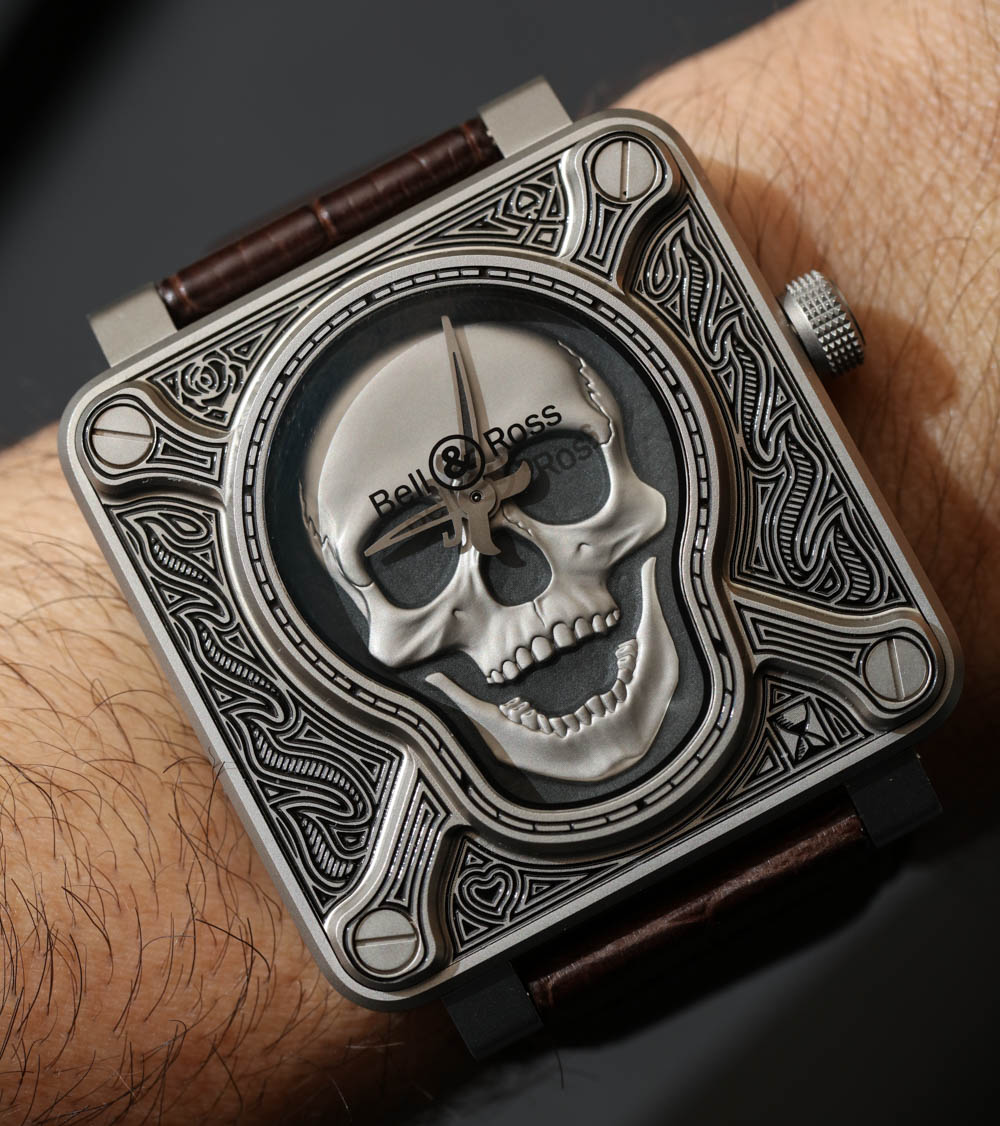 Bell & Ross BR01 Burning Skull 'Tattoo' Watch Hands-On Hands-On
