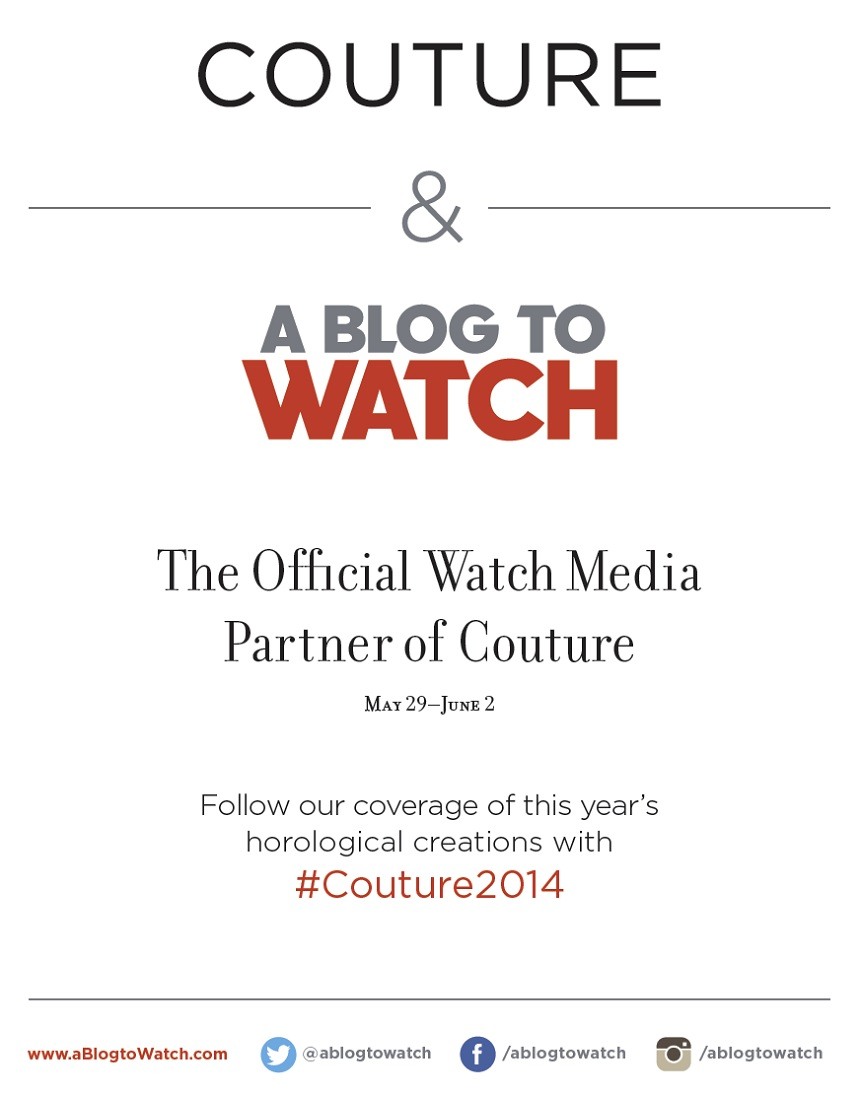 aBlogtoWatch Is Now The Official Watch Media Partner Of The Couture Watch & Jewelry Show Shows & Events