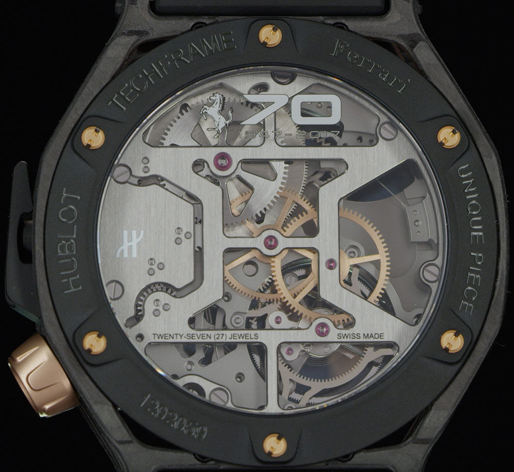 Hublot Techframe Ferrari 70 Years Tourbillon Chronograph Watch In PEEK Carbon & King Gold Watch Releases
