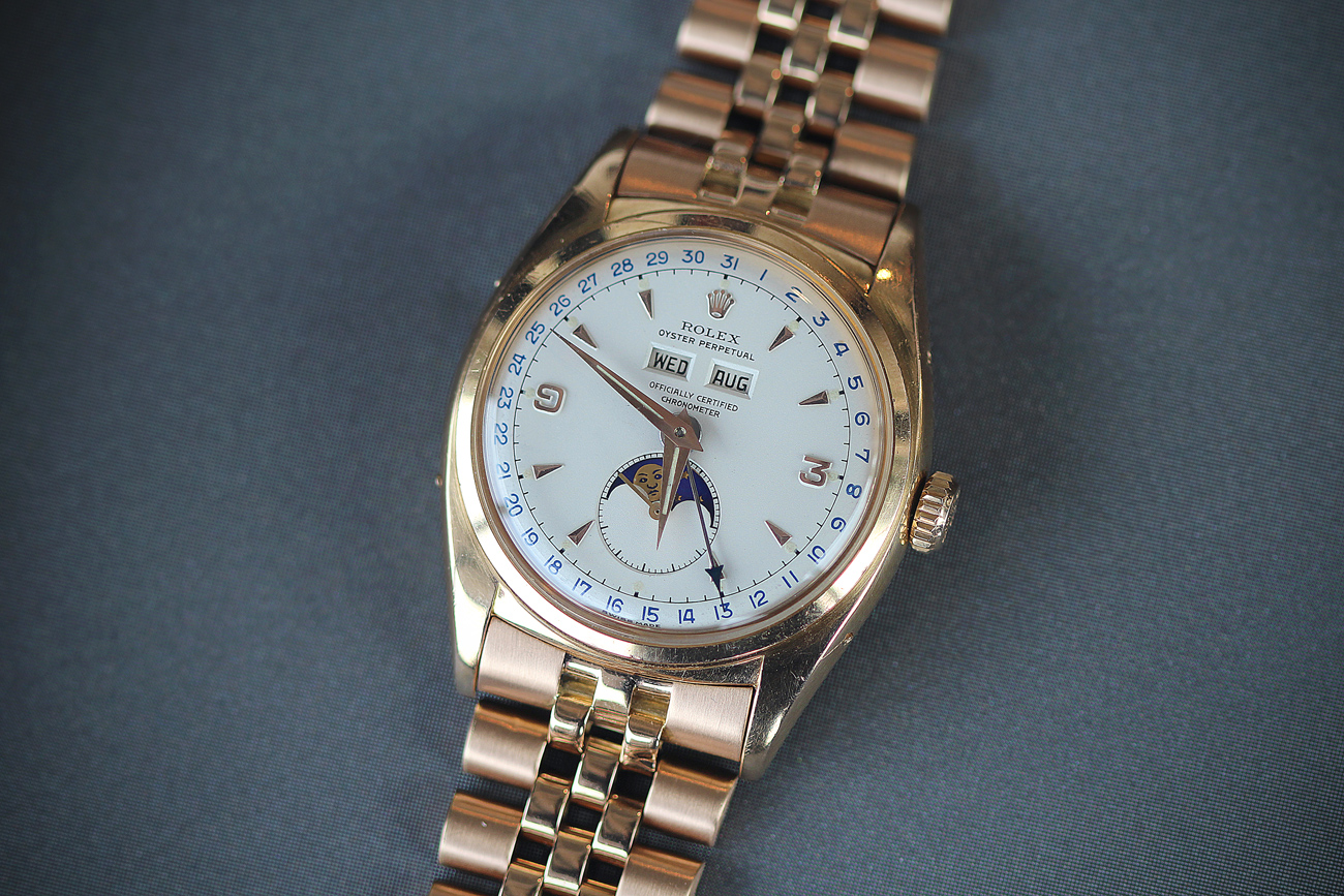 Rolex Phillips Rose Gold Moonphase replica