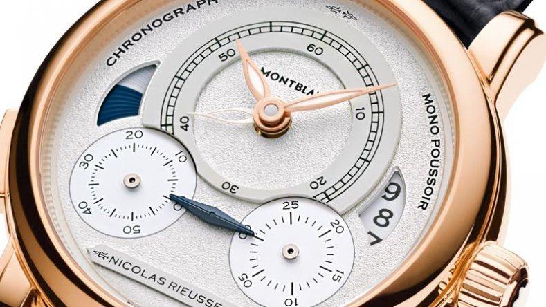 Swiss Rose Gold Montblanc Nicolas Rieussec Chronograph Replica Watch
