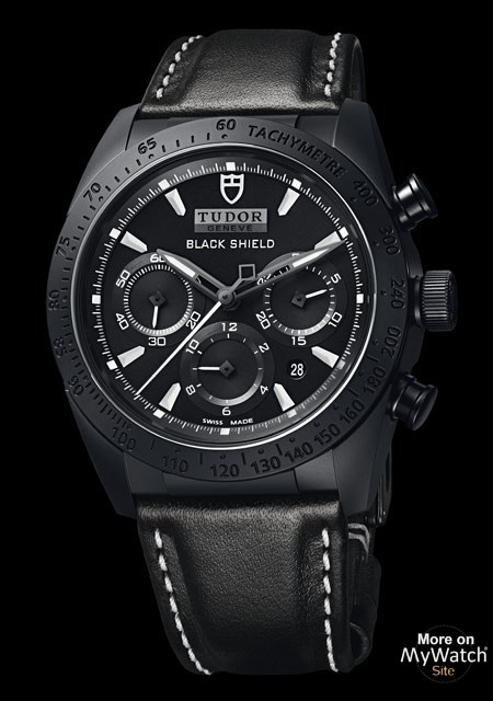 Black Ceramic Tudor Fastrider Black Shield Watch Replica